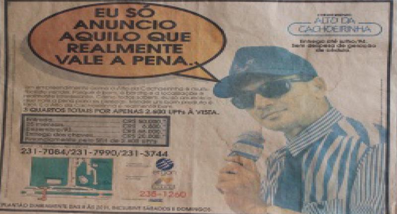 ''''''Recorte do jornal A Tarde à época''''''